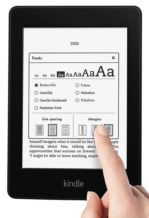 Elektronski Bralnik Kindle Paperwhite 6 uporablja zaslon na dotik