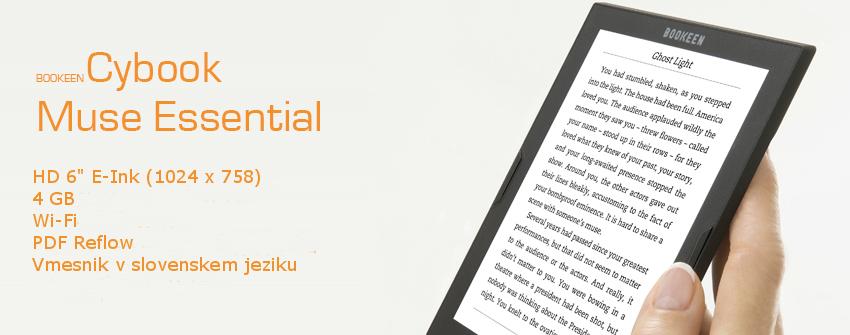 lastnosti bralnika Cybook Muse Esssential