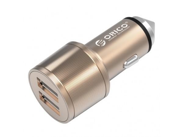 Avtopolnilec z varnostnim kladivom, 2x USB 2.4A, ORICO UCI-2U