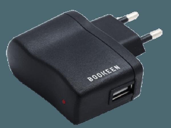 USB napajalni adapter za bralnike Bookeen je zelo prenosljiv in koristen na potovanjih, na morju itd.