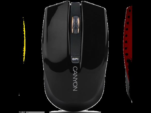 Brezžična miška Canyon CNS-CMSW5 (črna)