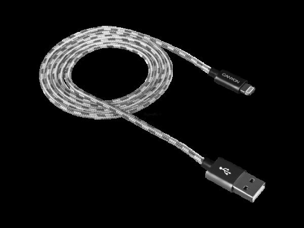 Canyon USB kabel za Apple (temno-siva)