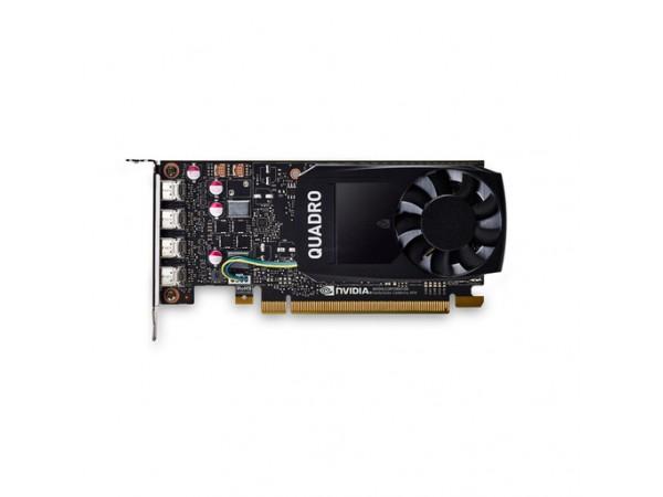 Grafična kartica Quadro P1000 DVI, 4GB GDDR5, PCIe 3.0 x16, 4x mDP - DVI-D, Low Profile, PNY