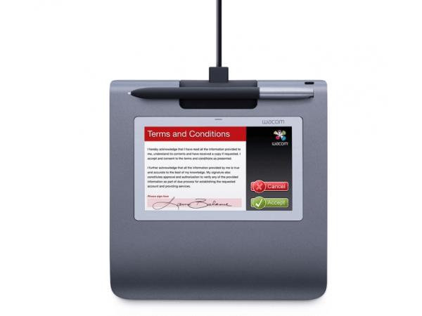 Podpisna tablica Wacom STU 530 nudi barvni LCD zaslon velikosti 5 palcev