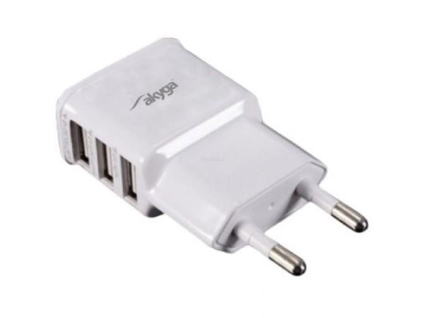 Adapter 3x USB 3.1A Akyga za mobilne naprave