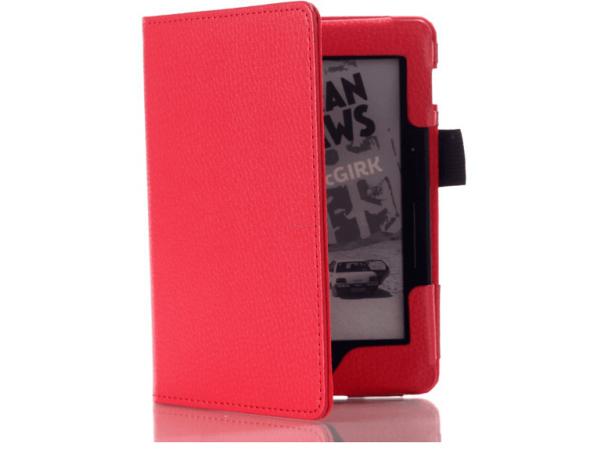 SMART ovitek za Kindle Voyage je iz kakovosntega rdečega usnja
