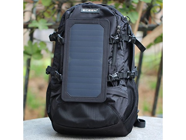 Solarni nahrbtnik ECEEN 602 s panelo 7W (5V) črne barve