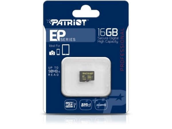 Spominska kartica Patriot EP MicroSD 16GB C10 UHS-I U3
