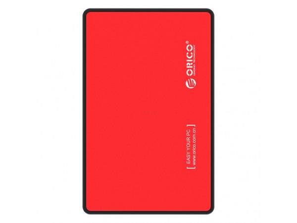 """Zunanje ohišje ORICO za HDD/SSD 2,5"""" USB 3.0, UASP, SATA3 (rdeče)"""
