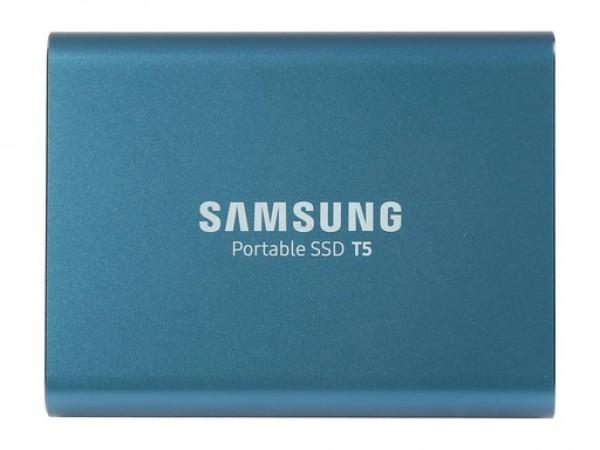 Zunanji SSD 250GB Samsung T5 v modri barvi