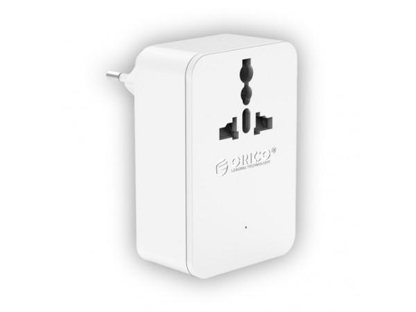 Polnilec 4-port USB, 1x šuko 230V, ORICO S4U-TEU-WH (bel)