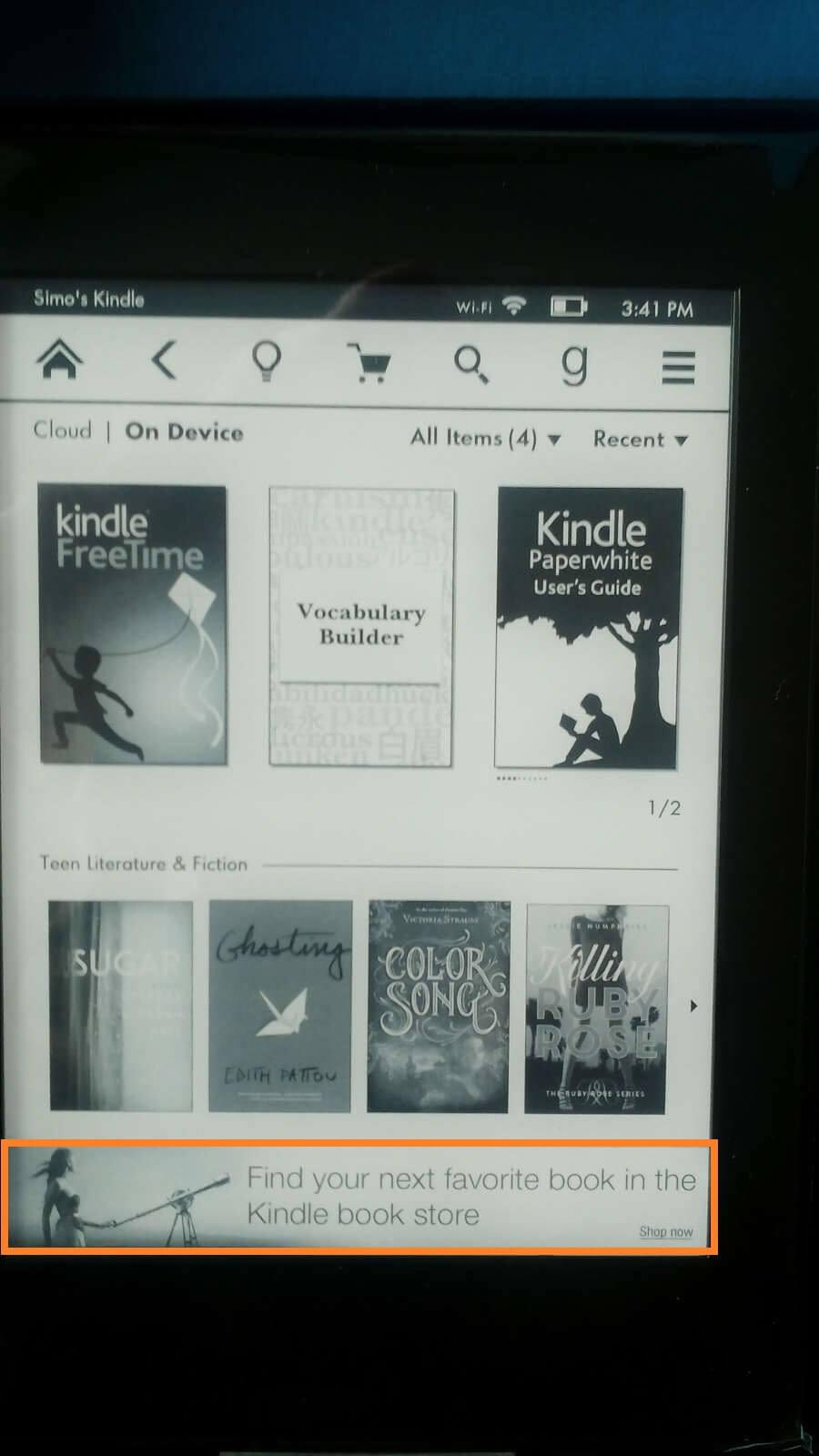Kindle Paperwhite Special Promotion : Primer reklame