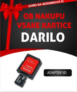 Ob nakupu micro sd kartice brezplačno darilo: SD adapter