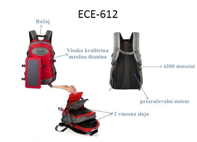 lastnosti solarnega nahrbtnika eceen 612